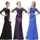 Ever Pretty Elegant Long Sleeve Lace Gown Prom Evening Dresses 09882 Size 6-18