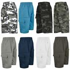 KIDS MULTIPOCKET SHORTS BOYS PLAIN & CAMO ARMY CARGO COMBAT SHORT BOTTOMS 3-14 Y