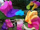 1pair sturdy pink~various colors 1.8m*0.9m belly dance silk fan veils+carry bag.