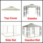 3x3m Pavilion Metal Gazebo Awning Canopy Sun Shade Shelter Marquee Greenbay