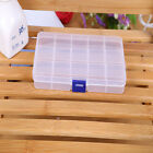 Plastic 10/15 Slots Adjustable Jewelry Storage Box Case Craft Organizer Box New