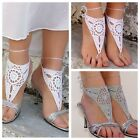 Sexy Womens Handmade Crochet Chain Foot Toe Ring Barefoot Sandal Beach Anklets C