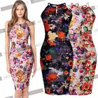 Womens Sexy Summer Hawaiian Floral Print  Cocktail Party Workwear Casual Dresses