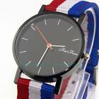 Simple Style Leather Band Casual Canvas Strap Fashion Men Women Dress Watches