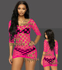 Sexy Fishnet Lingerie Sleepwear Nightwear Stripper miniDress Babydoll Bodysuit