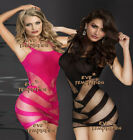 fishnet bodystocking set Sexy Lingerie Bodysuit minidress Crotchless Babydoll