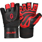 Gallant Weight Lifting Gloves Gym Body Building Leather Wrist Strap Men Training