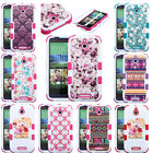 FOR HTC Desire 510 Slim Hybrid Armor Tuff Cover Fitted Tuff Skin Case LCD +PEN