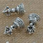 Jewelry Findings Tibetan Silver 20mm Hole 2mm Vajra Bell Loose Beads YJ-62248