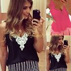 Women Summer Casual Slim Chiffon Double Sleeveless Tops Vest Tank T-Shirt Blouse
