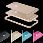 New Luxury Aluminum Metal Bumper Acrylic Back Cover Case For iPhone 5s 6 Plus