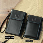 Men's Bifold Wallet Card Coin Cash Holder Wrist Clutch Bag Cell phone Pocket