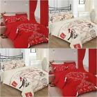 3pc PRINTED DUVET COVER PARIS CHOICE: DOUBLE KING RED CREAM ALL YOU NEED IS LOVE
