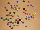 50 Acrylic Rhinestones Flat Back Gems 7mm Various Colours On Listing