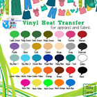 """Heat Transfer Vinyl EasyWeed 10"""" x 5 Yards (15 FT) 30 colors in stock :)"""
