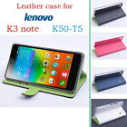 "New Flip PU Leather Case Stand Cover For 5.5"" Lenovo K3 Note K50-T5 Mobile Phone"