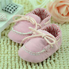 New 3-18M Girls Ankle Strap Pink LacesToddler Soft Soled Prewalker Casual Shoes