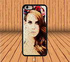 Lana Del Rey for iPhone 6 6+ 4S 5/5S 5C Samsung Galaxy S3/4/5/6 Note 2/3/4 Case