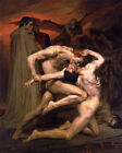 Dante and Virgil in Hell - Stretched Framed Canvas print, French Academic Art