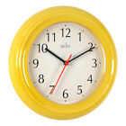 "Bentima Wycombe Kitchen Wall Clock 21cm 8"" Quartz Round 7 Colours By Acctim"