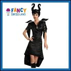 Adult Womens Licensed Disney Deluxe Maleficent Glam Fancy Dress Costume