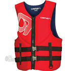 O'Brien Men's Traditional Neoprene Life Jacket Vest - Adult Sizes - RED