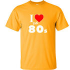 I Love The 80's T Shirt 80's Retro Vintage T-Shirt Old School 7 COLORS