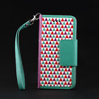 Fashion Magnetic Wristlet Flip Stand Wallet Leather Case for iPhone 5S/6/6 Plus