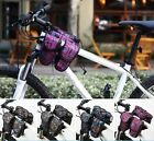 ROSWHEEL Bike Bicycle 3 in 1 Front Frame Tube Bag Cycling Handlebar Bag Pannier