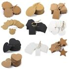 100pcs Retro Kraft Paper Blank Luggage Gift Tags Labels w. String Wedding Favors