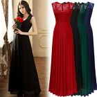 Womens Long Chiffon Lace Formal Evening Prom Party Bridesmaid Wedding Maxi Dress