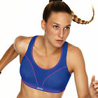 NEW Shock Absorber RUN Sports Bra Blue/Neon S5044 Sizes 30-38  A-F Cups!