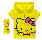 Hello Kitty Shirt & Pants Set Capri Outfit Costume Girls Kids Baby Princess 2T-6