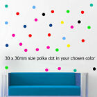 Polka Dot 30 Wall Stickers Kid Decal Art Nursery Bedroom Vinyl Decor spot Bubble