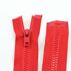 RED 10'' - 32'' INCH CHUNKY NO.5 OPEN END ZIPS *12 SIZES* PLASTIC SEW ON NZ1162