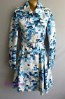 KAREN MILLEN Iris Print Trench Coat BNWT UK 8 10 12 Collared Belted Summer CQ017