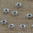 DIY Jewelry Findings Tibetan Silver 6mm Hole 2mm Round Spacers Ring Beads ZN-243