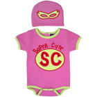 "Sozo Girls Pink ""Super Cute"" Bodysuit with Removable Cape and Hat"