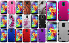 FOR Samsung Galaxy S5 TUFF Hybrid Phone Case Cover Triple Layer solid protector