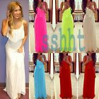 Women's Sexy Sleeveless Backless Bodycon Bandage Casual Beach Party Long Dresses