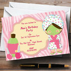 Girls Makeover Nail Spa Day Personalised Birthday Party Invitations - TH120