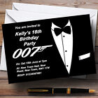 James Bond Themed  Personalised Party Invitations £17.95 GBP on eBay