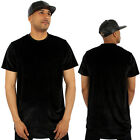 Kanye Velour Long Drop Low Tail Tee T-Shirt Streetwear Hip Hop Clubbing Velvet