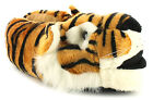 New Mens/Gents Orange/Black/White Faux Fur Tiger Head Novelty Slippers UK SIZES