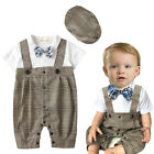Baby Boy Wedding Christening Formal Party Tuxedo Suit Outfit +Hat Set 3 6 12 18M