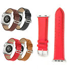 New Genuine Leather Strap Wrist Band For Apple Watch iWatch Series 4 3 2 1 2018 image
