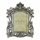 ANTIQUE BAROQUE STYLE SILVER PHOTOGRAPH FRAME - CLASSICAL ORNATE PHOTO / PICTURE