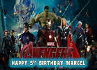 EDIBLE ICING AVENGERS AGE OF ULTRON SUPER HEROS COMIC BOOK BIRTHDAY CAKE TOPPER