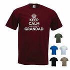 'Keep Calm and listen to Grandad' - Funny Pops Grandpa Gramps T-shirt Tee Gift