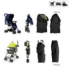 Pram Stroller Black Cover Case / Travel Cargo Bag - Light & Good Protection NEW